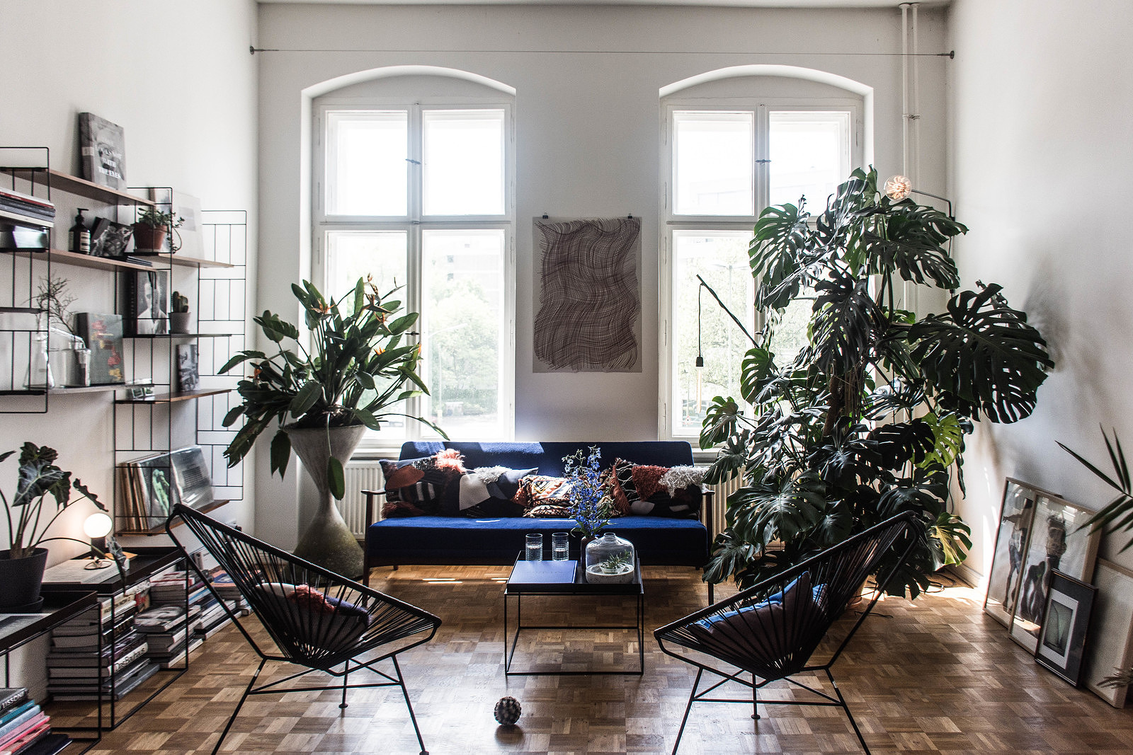 Living room of Tim Labenda in Berlin-Kreuzberg