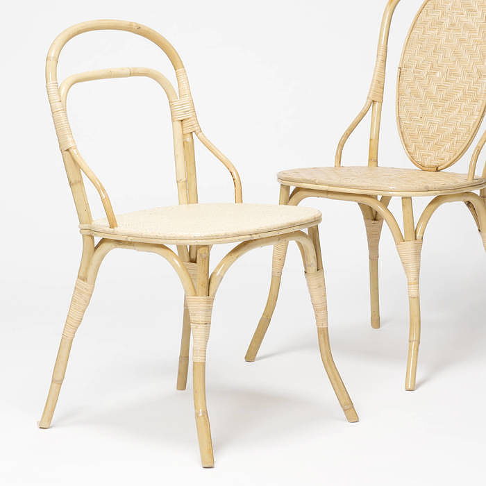 Front: Gres Chair by Miguel Milá, 319€, H43,5 x W42,5, Back H80 cm, Handmade in Valencia, Aoobarcelona Studio